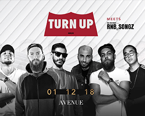 Turn Up meets RnB Songz | Sat 01.12.18
