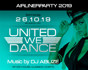 Airlinerparty 2019 | Sat. 26.10.