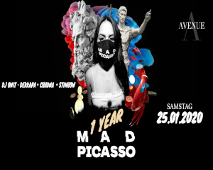 1 Year Mad Picasso – Party & Art | Sat. 25.01.